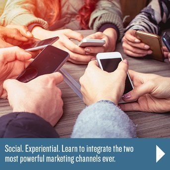 Blend Social Media and Experiential Marketing.
